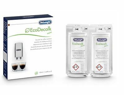 Delonghi Coffee Maker Bean To Cup Machine EcoDecalk Cleaner Descaler 2 Sachets