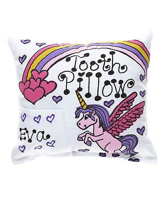 Personalized Unicorn Tooth Fairy Pillow