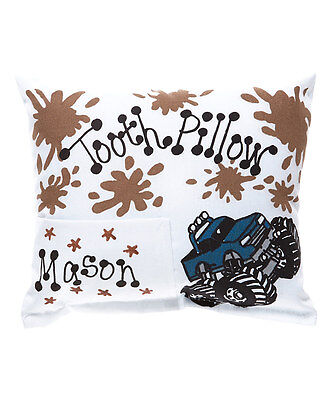 Personalized Monster Truck Blue Tooth Fairy Pillow