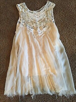 Dance Costume  Adult Size S Ivory/beige Dress  Lyrical Contemporary Competition