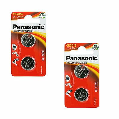 4 x Panasonic CR2016 3V Lithium Coin Button Cell Battery 2016