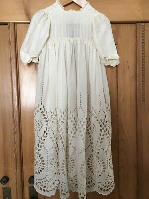 Antique Silk Christening Gown Baby Doll
