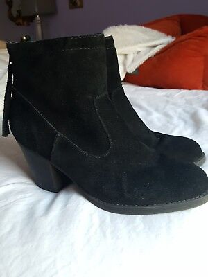 97a82485a64 STEVE MADDEN BLACK Short Ankle Booties Suede Size 8.5 - $14.99 ...
