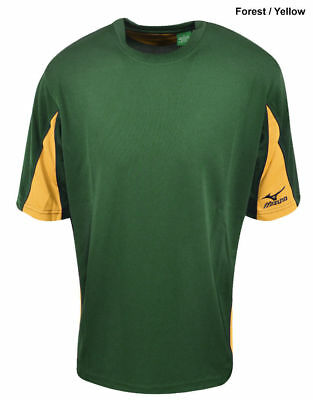 New Mizuno Golf Youth Two Color Green & Yellow Jersey Shirt Size- Medium