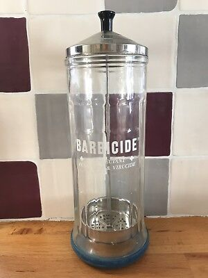 Barbicide LARGE Glass Jar Disinfectant for Salons Barbers Hospitals Clinics
