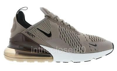 NIKE AIR MAX 270 Sepia Stone Grey Black White Mens Trainers