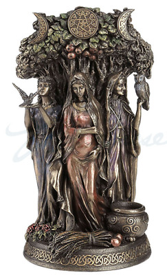 Celtic Triple Goddess Maiden Mother And The Crone Statue Sculpture Figurine