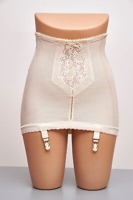 "Genuine Vintage 50s 4Suspender Lace Panel Girdle  Burlesque Ultra Femme  23"" 26"""