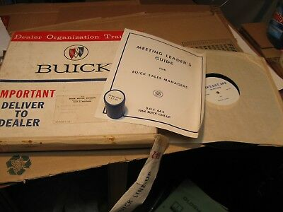 "1964 Buick Sales Training Kit "" 1964 Buick Line Up"" Nos"