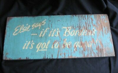 Vintage Borden's Dairy Distressed Wooden Store Sign