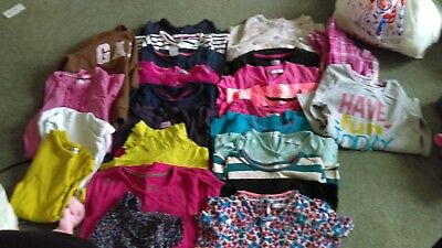 Age 6-7 years girls tops large bundle (27 items)