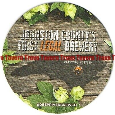 "Craft Micro NORTH CAROLINA Clayton DEEP RIVER 'First Legal Brewery' 4"" Coaster"