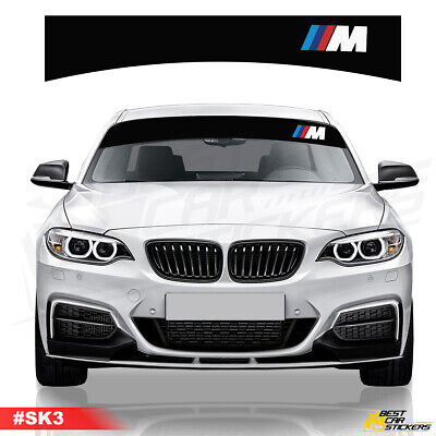 BMW 3M Performance Sunstrip Car Stickers Decal Graphics Windscreen Stripes