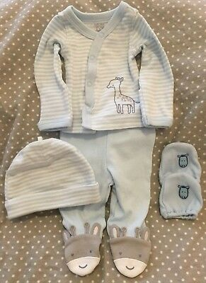 NWOT Carter's Just One You preemie boys girls unisex 4-pc giraffe outfit