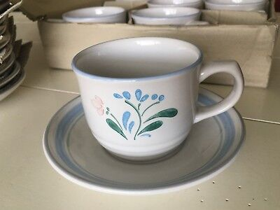 4 Fascino by Yamaka Stoneware Hand Decorated Japan Coffee Cups & Saucers NWTS