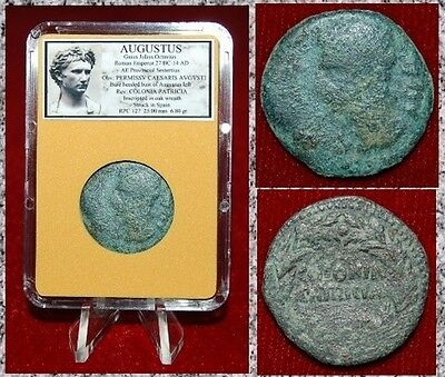 Roman Empire Coin AUGUSTUS AVGUSTUS On Obverse Struck In Colonia Patricia,Spain