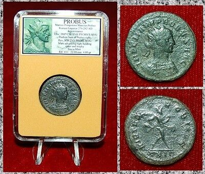 Ancient Roman Empire Coin Of PROBUS Mars Walking With Spear And Trophy