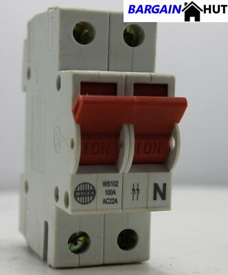 wylex ws102 main isolator switch 100a dp brand new cheapest