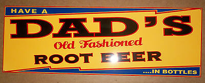 Beautiful Dad's Root Beer Sign, Brilliant Colors and great Shine, Heavy Steel