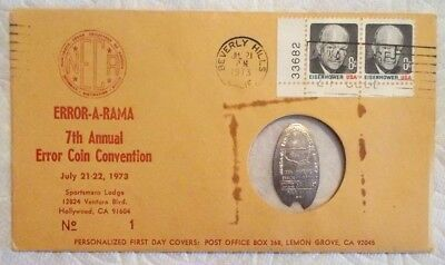 1973 Error A Rama 7th Annual Coin Convention 1966 Elongated Dime NECA Cover #1