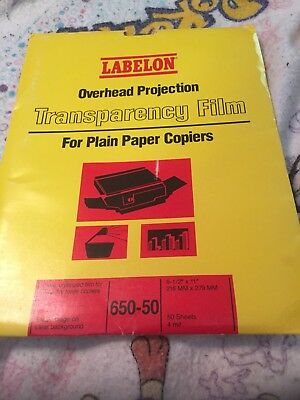 Overhead Projection Transparency Film For Plain Paper Copiers