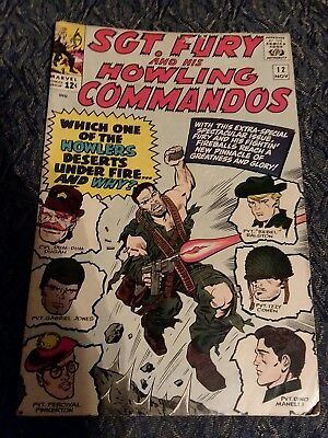 Sgt. Fury And His Howling Commandos #12 VG/Fair- condition