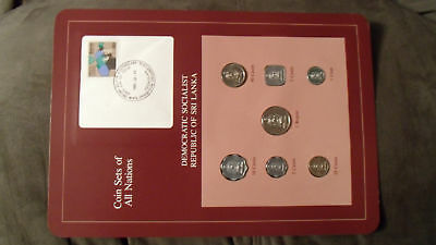 Coin Sets of All Nations Sri Lanka w/card UNC 1978 & Rupee, 25 & 50 Cents 1982