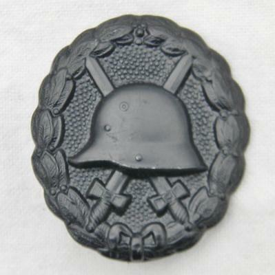 "GERMANY original WW1 era German ""stahlhelm"" black Wound Badge; EXCELLENT cond"