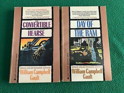 CONVERTIBLE HEARSE + DAY OF THE RAM William Campbell Gault, Lot of 2 Paperbacks
