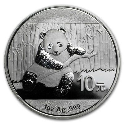 2014 China Silver Panda  10 Yuan  1 oz Silver Coin - excellent condition