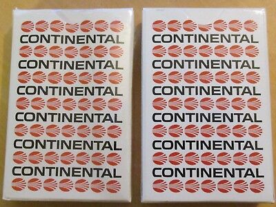 Lot Of 2 Decks Of Vintage Continental Airlines Playing Cards, New In Box