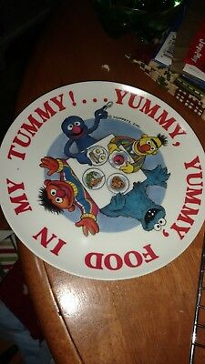 vintage Sesame Street plate and cups by Peter Pan