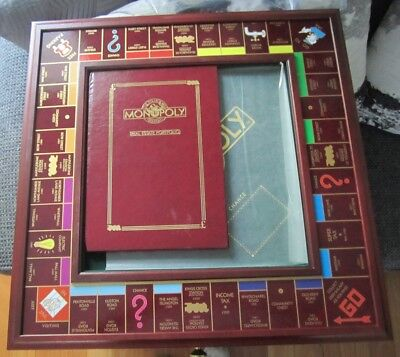 Franklin Mint Rare Deluxe Edition Monopoly Board Game Set New Never Been Played