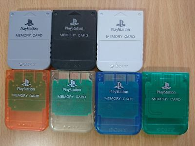 Genuine/Official Sony PlayStation 1 Memory Card PS1/PSX/PS2 SaveGame [SCPH-1020]
