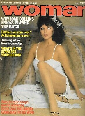 vintage Woman magazine July 7th 1979 Joan Collins cover & Feature