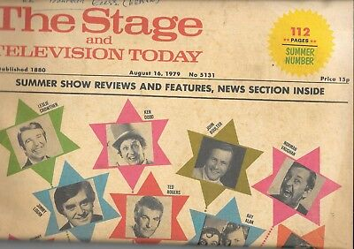 Vintage stage & television Today paper Aug 16th 1979 No 5131