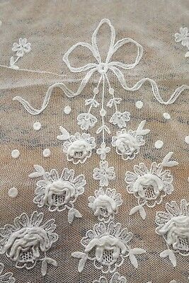 Antique Lace Scarf / Stole -  Roses - Wedding