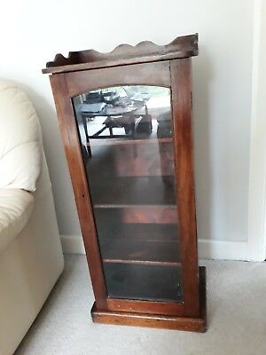 antique 3 shelf display cabinet, condition commensurate with age