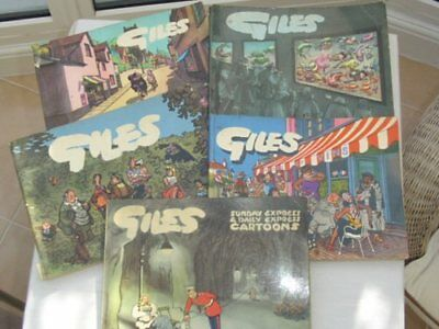 GROUP OF FIVE GILES CARTOON BOOKS Nos 7 9 10 12 15.