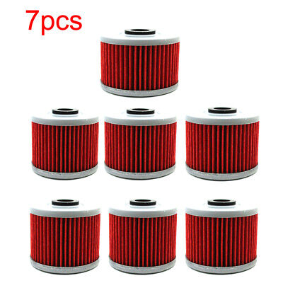 7x Oil Filter For Honda NX650 FX650 CBX650 XR250 Kawasaki KLX300R KLX125 KLX110