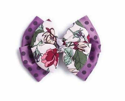 NWT Matilda Jane Mock Turtle Hair Bow Polka Dot and Floral Once Upon A Time