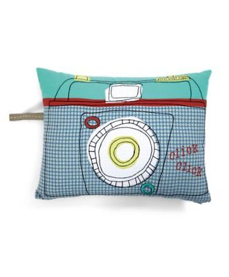 Mamas & Papas CHILDS NURSERY / BEDROOM PLAYROOM CAMERA PILLOW CUSHION £22.50 NEW