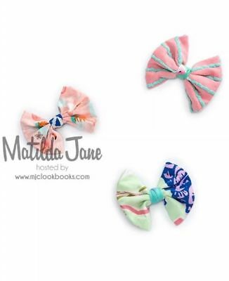 Nwt Matilda Jane Spinning Top Bow Set Of 3 The Adventure Begins Hair Clips New