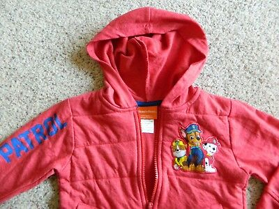 Paw Patrol red zippered hoodie boys size 3T