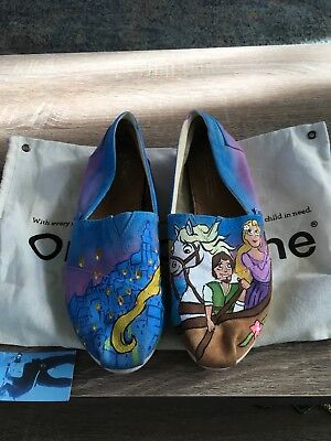 81cc025838479 CUSTOM PERSONALIZED BIRD TREES sky galaxy hand painted TOMS shoes ...