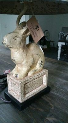 UTTERMOST Leverette French Country Rabbit / Bunny Lamp Crackle Finish # 27159