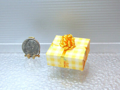 Dollhouse Miniature Large Wrapped Gift or Present with Bow #13
