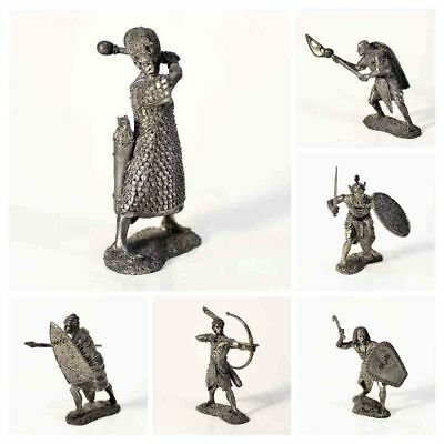 "Tin toy soldier ""Army of Ancient Egypt, 20-7 c. BC"" metal sculpture 1/32 (54mm)"
