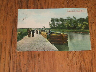 Canal postcard - Hednesford : Canal Side;Coventry postmark,1917,Evans publ.