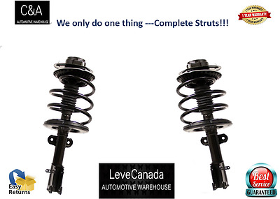 2 Rear Quick Complete Strut & Coil Spring Assembly Fit  00- 05 HYUNDAI - Accent